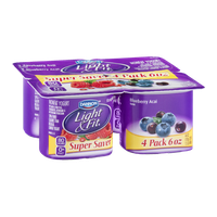 Dannon Light & Fit Raspberry Goji and Blueberry Acai Nonfat Yogurt - 4 CT