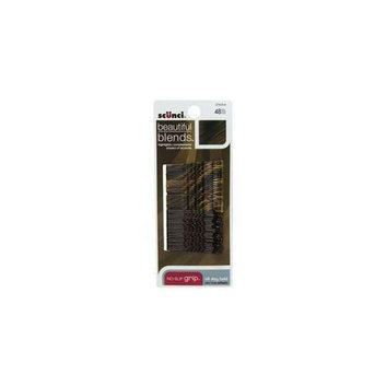 Scunci 3742303A048 48 Count Beautiful Blends Brown And Black Bobby Pins - Pack of 3
