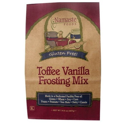 Namaste Foods, Gluten Free Toffee Vanilla Frosting Mix, 16.5-Ounce Bags (Pack of 6)