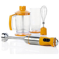 Bon Appetit BAIBC010O Orange Immersion Blender with Chopper Bowl