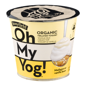 Stonyfield Organic Oh My Yog! Trilayer Yogurt Madagscar Vanilla Bean