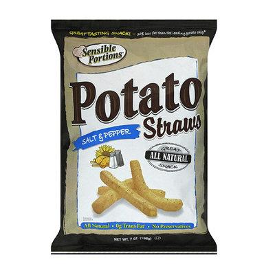 Sensible Portions Salt & Pepper Straws Potato Chips