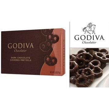 Godiva Chocolatier Dark Chocolate Covered Pretzels 2.5 Oz Box (Pack of 3)