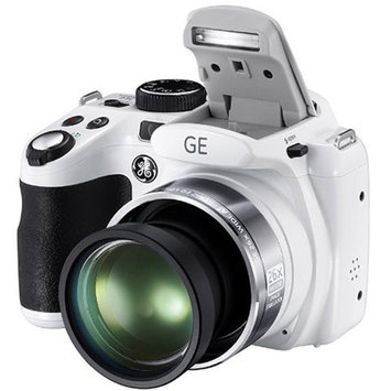 GE Refurbished White X600-WH Digital Camera with 14.4 Megapixels and 26x Optical Zoom