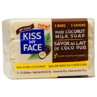 Kiss My Face Pure Coconut Milk Soap Pack, 3 ea