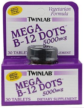 Twinlab Twin Lab B-12 Mega Dots 5,000mcg Tablets, Vegetarian Formula, 30-Count