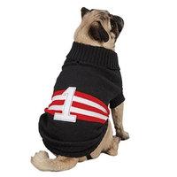 Zack & Zoey Collegiate Pet Sweater - Black