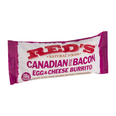 Red's Canadian Style Bacon Egg & Cheese Burrito