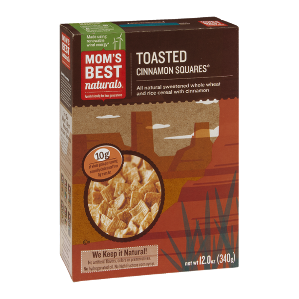 Mom's Best Naturals Cereal Toasted Cinnamon Squares
