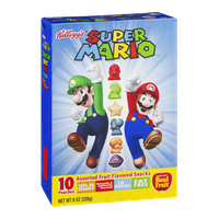 Kellogg's Super Mario Assorted Fruit Flavored Snacks - 10 CT