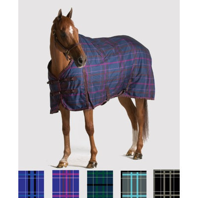 Pessoa 1200D Turnout Blanket 300G 72 Black/Clay Plaid