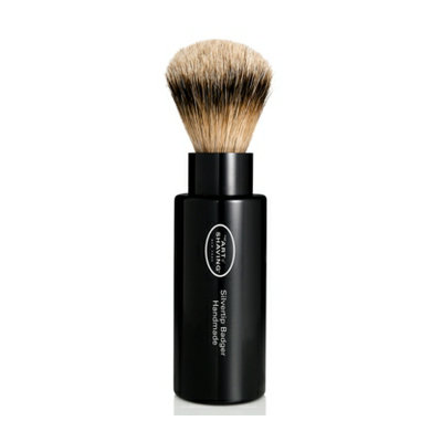 Art of Shaving The  Travel-Size Black Turnback Silvertip Badger Brush