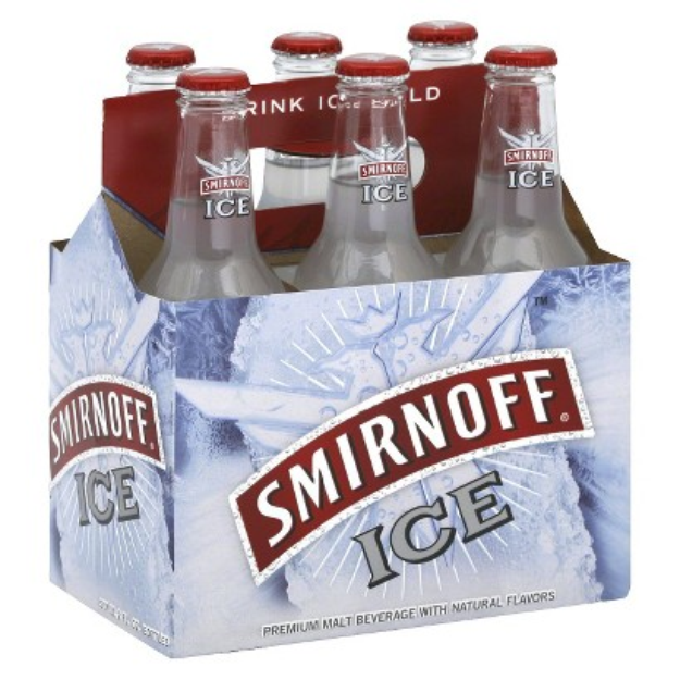 Diageo SMIRNOFF 6PK ICE BOTTLES