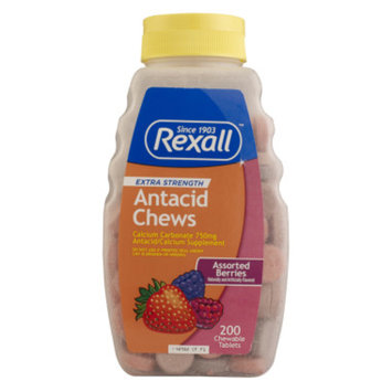 Rexall Antacid Chews - Assorted Berry Flavors, 200 ct