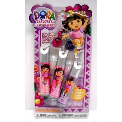 Townley Inc Dora the Explorer Fruit Flavored Lip Jellies Trio