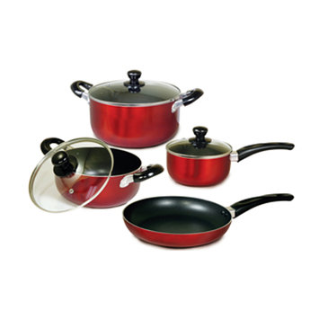 Crystal Promotions Better Chef 7-Piece Aluminum Non-Stick Cookware Set