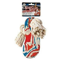 Four Paws Rough and Rugged 6-Inch Rubber Flip Flop With Rope