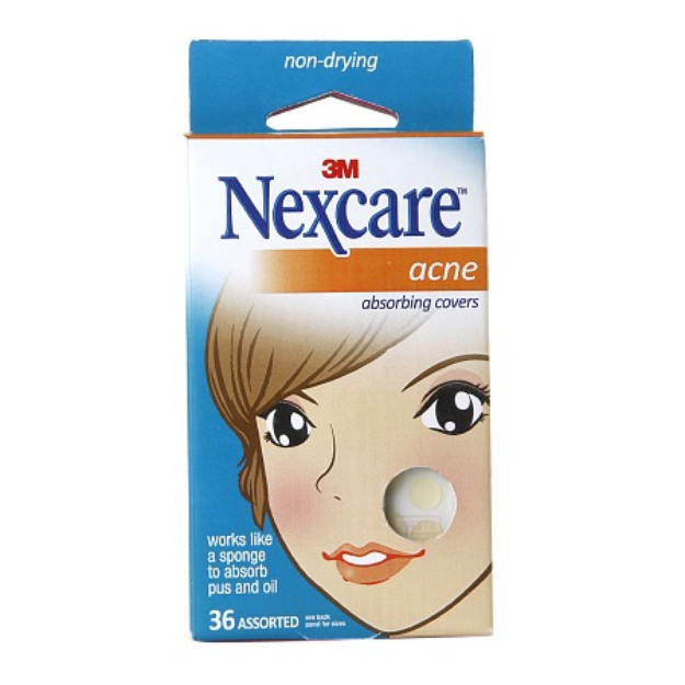 Nexcare Acne Absorbing Covers, Assorted, 20 ea
