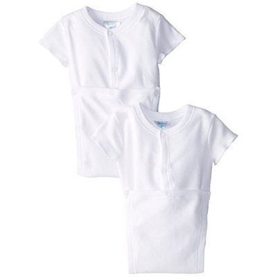 Spasilk Unisex-baby 100% Cotton Short Sleeve Wrap 2-Pack Bodysuit - 3 Months