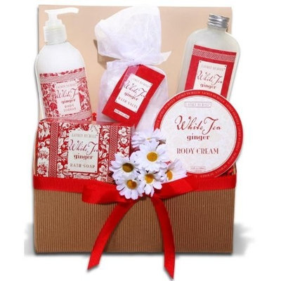 Alder Creek Gifts White Tea Ginger Spa Tray Gift Basket