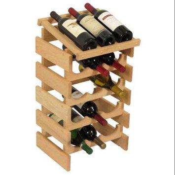 Wooden Mallet WRD34UN 15 Bottle Dakota Wine Rack with Display Top