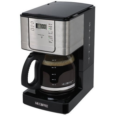 Mr. Coffee JWX39 12-Cup Programmable Coffeemaker, Stainless Steel
