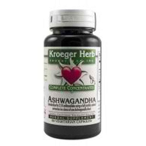 Kroeger Herb Ashwagandha - Complete Concentrate - 60 Vegetarian Capsules