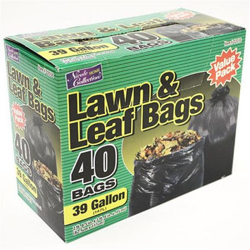 Nicole Home Collection 02030 39 Gallon Lawn and Leaf Bags - 240 Per Case