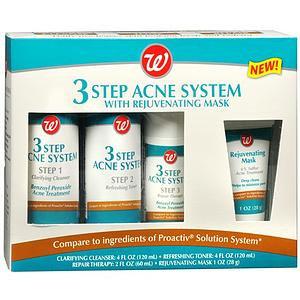 Walgreens 3 Step Acne System with Rejuvenating Mask