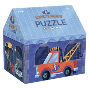 Crocodile Creek Sparky's Garage House Shaped Puzzle