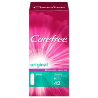 Carefree Original Liners, Light Scent, Long/Flat, 42 ea