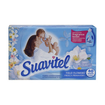 Suavitel Field Flowers Fabric Conditioner Dryer Sheets - 40 CT