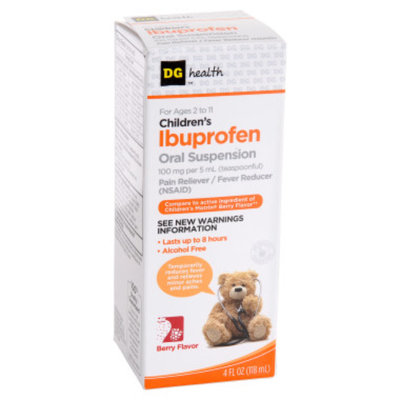 DG Health Children's Ibuprofen Oral Suspension - Berry Flavor