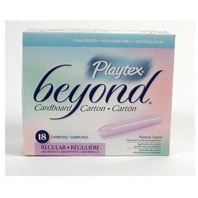 Playtex Beyond Cardboard Carton Tampons, Regular, 18 each (Pack of 4)