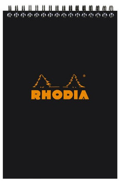 Rhodia Notepads Lined Black WB 6 X 8 1/4