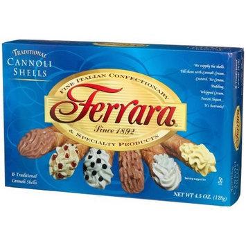Ferrara Cannoli Shells, 6 Count, 4.5 Ounce Boxes (Pack of 12)