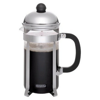 Bonjour Monet Polished Stainless Steel 8-Cup French Press Coffee Maker