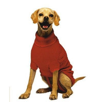 Fashion Pet Classic Cable Dog Sweater, Red, XXX-Small