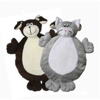 Multi Pet Multipet 2-Faced Crinkle/Plush Dog Toys with Dog/Cat Faces