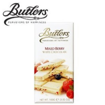 Butlers White Chocolate Mixed Berries Bar 100g (5-pack)