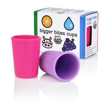 Kinderville Bigger Bites Cups (Set of 2, Pink/Purple)
