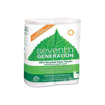 Seventh Generation 100% Recycled Paper Towel Rolls with Right Size Sheets