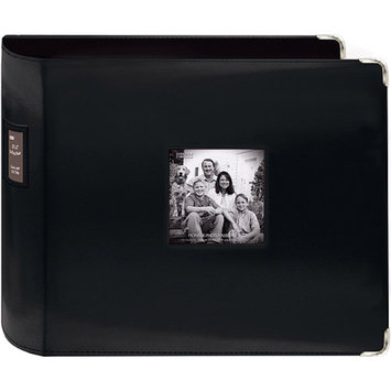 Pioneer Sewn Leatherette 3 Ring Binder - Black (12