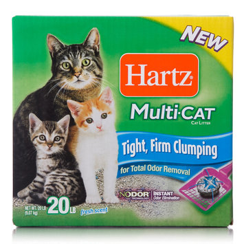 Hartz Mountain Corp. Multi-Cat Odor Removal Clumping Cat Litter, 20 lb. box