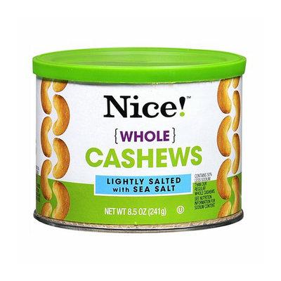 Nice! Whole Cashews Lightly Salted with Sea Salt
