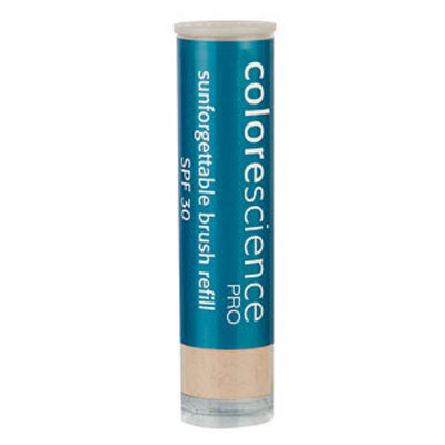 Colorescience SPF 30 Brush Refill Sunforgettable Mineral Powder Sun Protection, Fair, 1 ea