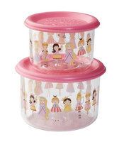 SugarBooger Good Lunch Large Snack Containers (Hoot!) - 2-pack