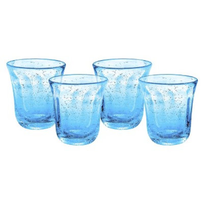 Artland Savannah Double Old Fashioned Glass Set of 4 - Turquoise (10