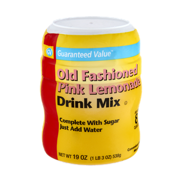 Guaranteed Value Old Fashioned Pink Lemonade Drink Mix