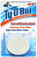 Ty-d-bol 1.7 oz. Toilet Bowl Cleaner Tablet Free and Clear